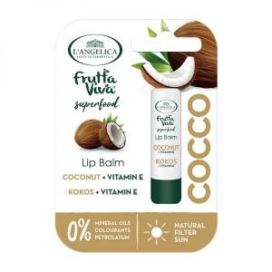 Balsam de Buze Cocos + Vit E, L'Angelica Frutta Vita, 4.8G